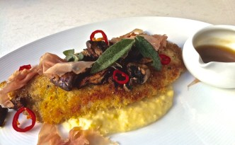 Veal Saltimbocca at Stanza Italian Bistro & Wine Bar, photo by Valerie Phillips