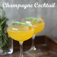 Clementine Rosemary Champagne Cocktail