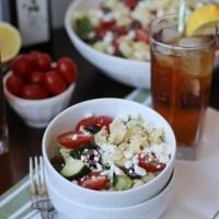 Tortellini Greek Pasta Salad
