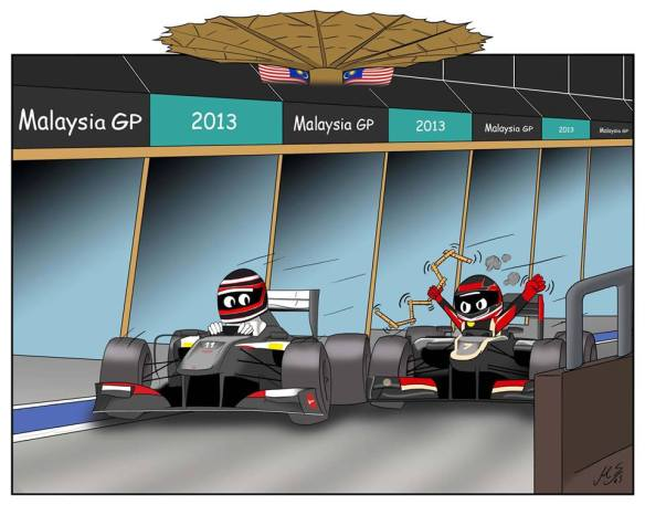 """""""… keep your cool Kimi, there's at least a couple of centimetres!! Precision racing resulting in my first points."""""""