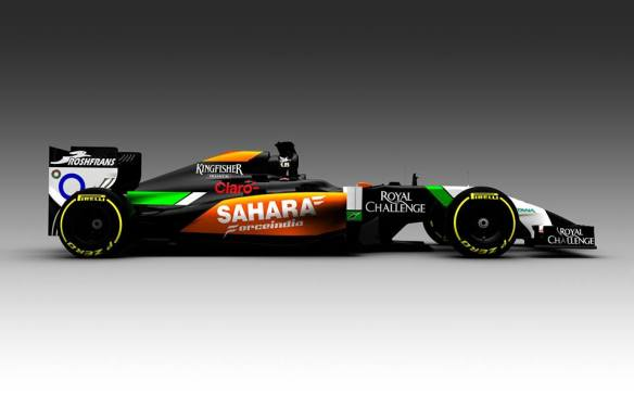 force india 2014 rendering