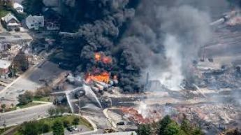 Train Derailment and Explosion in Lac-Megantic, Quebec. (Taken from ctvnews.ca)