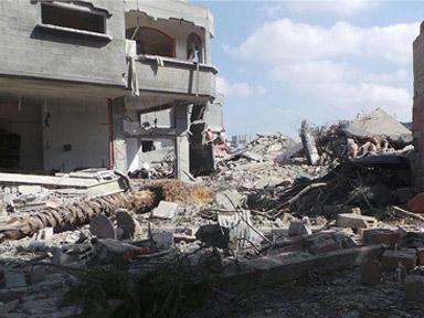 The town of Beit Hanoun in Gaza, courtesy of Samer Zaneen