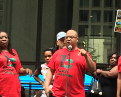 Michael Brunson from CTU Black Caucus (Photo by Bill Chambers)