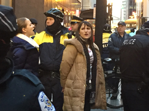 Bank of America Sit-in Protestors Arrested. (Photo by Bill Chambers)