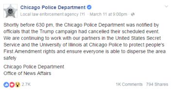 CHICAGO POLICE ANNOUNCEMENT 1