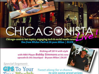 The #ChicagonistaLIVE show kicking off the year with style at Bryson Milan!