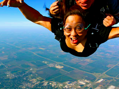 Painting the Sky Pink by Jumping Off the Plane!
