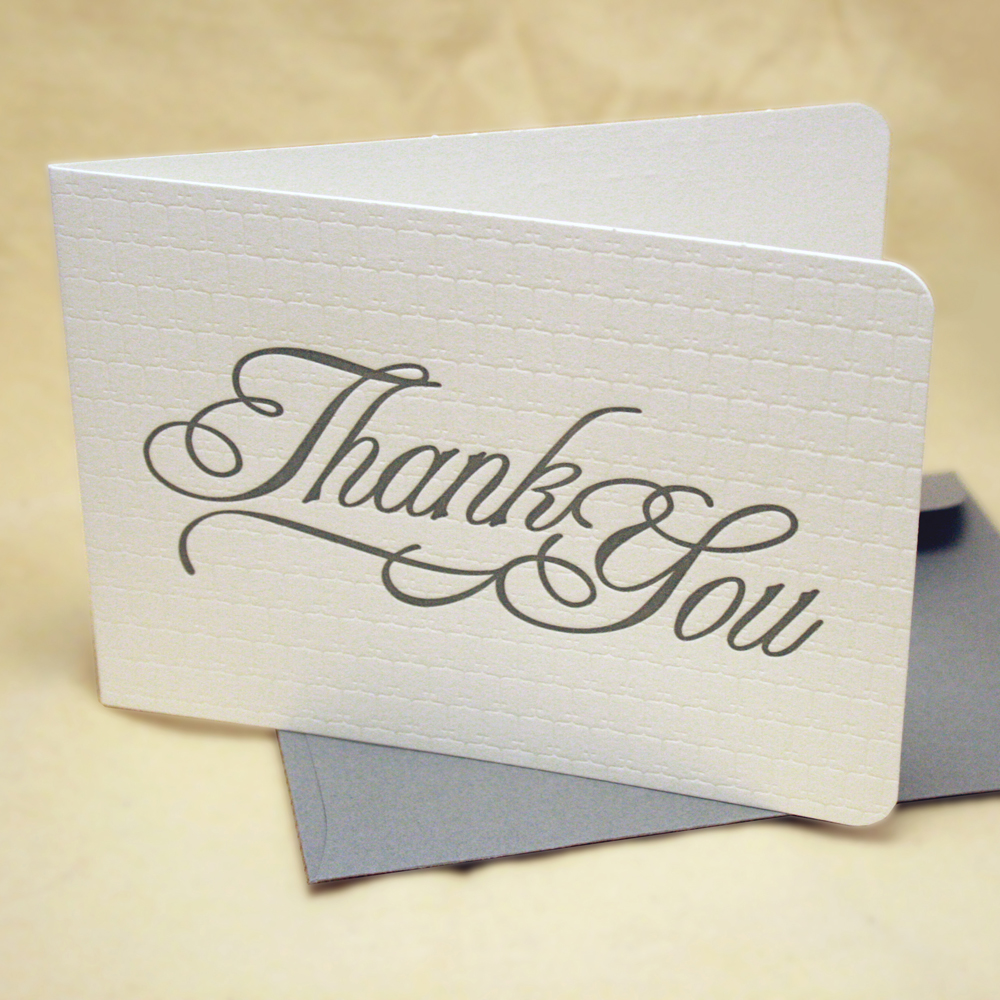 wedding thank you cards thank you cards wedding Writing thank you cards after your bridal showers and wedding can be a daunting