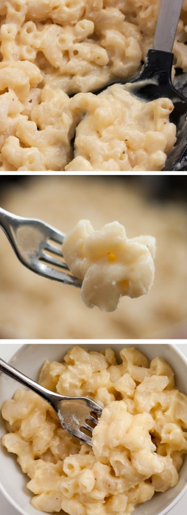 Stovetop Mac and Cheese - A delicious and classic recipe that is easy to make featuring delicious sharp cheddar cheese and comes together faster than a baked version. | chickandhercheese.com