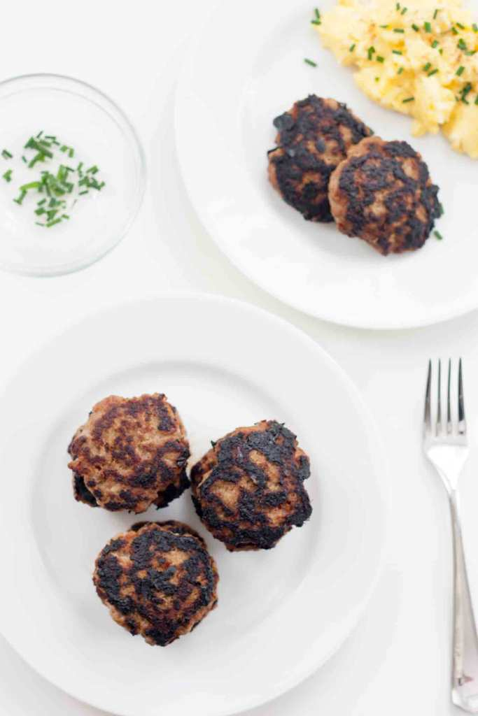 Turkey Breakfast Sausage is full of spices but low in calories (58 per patty!), and is an easy and flavorful alternative to the traditional pork. | Chickandhercheese.com