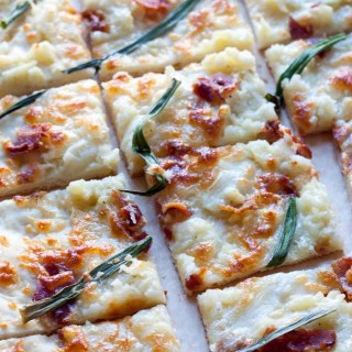 Mashed Potato, Bacon, and Scallion Pizza