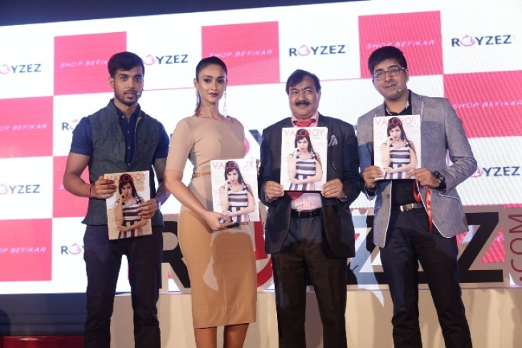 Mr.-Nitish-Roy-Founder-CVO-Royzez.com-Actress-Ileana-Dcruz-Mr.-Yadavendra-Roy-Chairman-Kaka-Group-and-Mr.-Rahul-Sethi-COO-Royzez.com_ (1)
