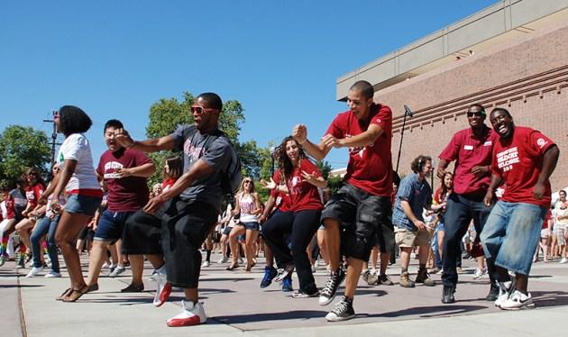 Wildcats dancing