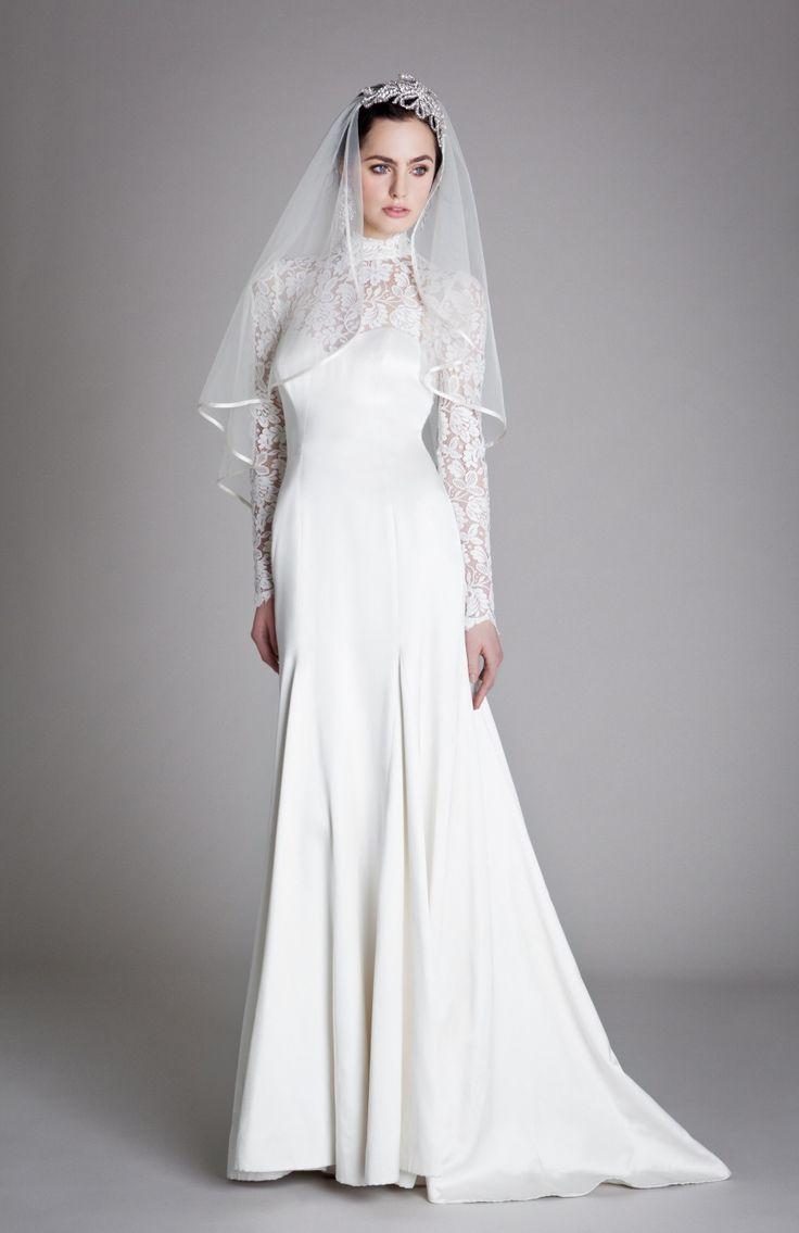 top long sleeved wedding dresses turtleneck wedding dress Grace Wedding Dress from Temperley London