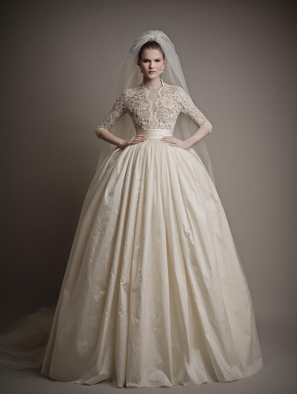 top long sleeved wedding dresses turtleneck wedding dress Ersa Atelier s Charlotte