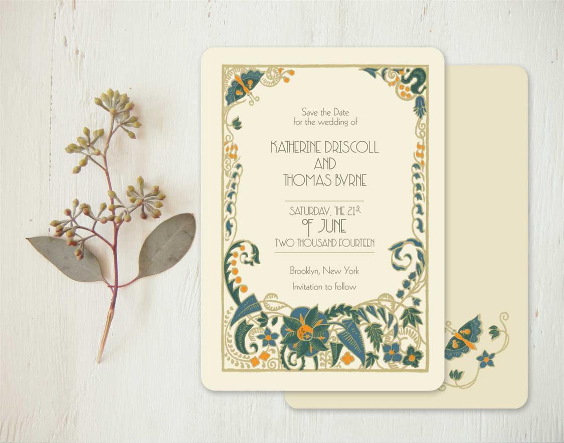 Fullsize Of Art Deco Wedding Invitations