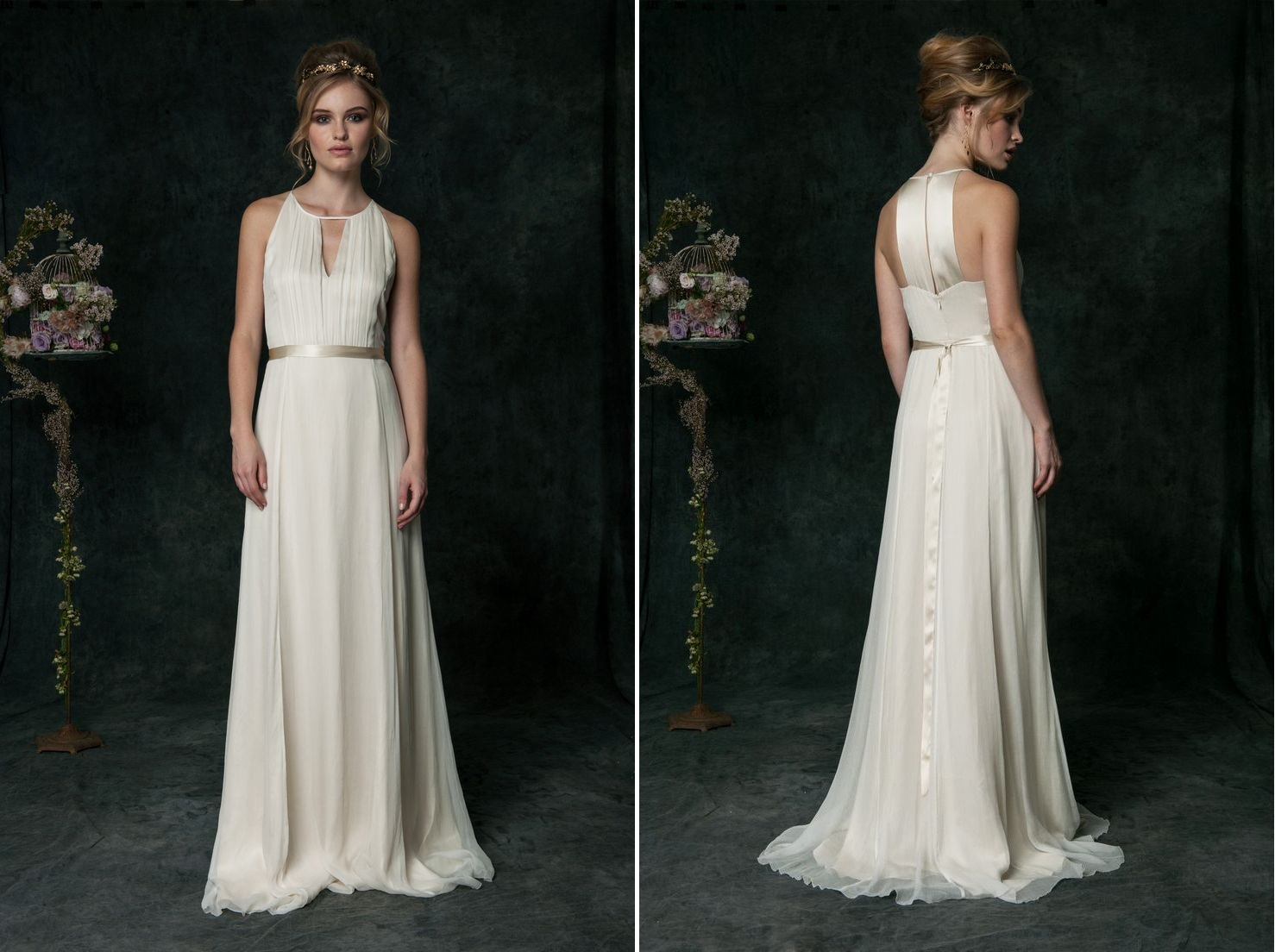 wedding dresses saja grecian style wedding dresses Modern Vintage Bridal Collection from Saja Wedding