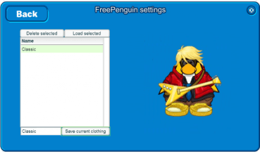 free penguin saved clothes