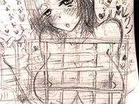 自分がしている乳首オナニーを絵に書いて具現化する変態乳首オナニストちゃん