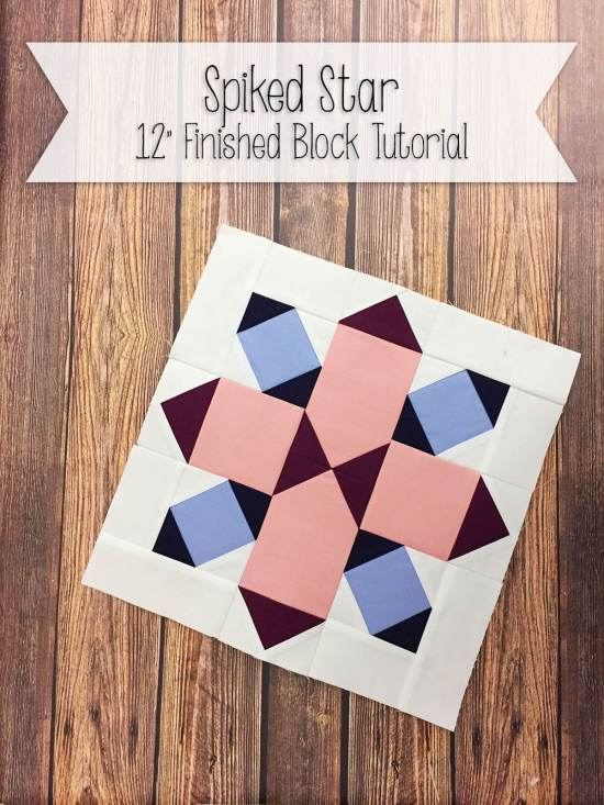"Free tutorial for 12"" Spiked Star foundation paper piece tutorial"