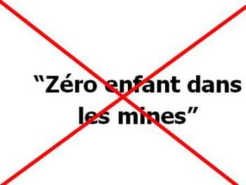 Logo Campagne 0 enfants dans les mines