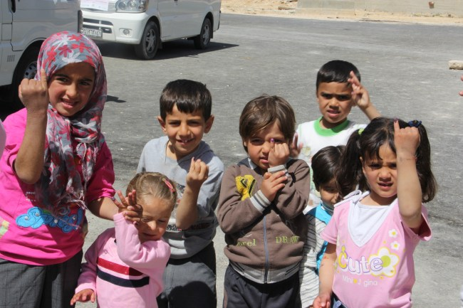Children showing their hands