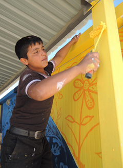 "©UNICEF/ Jordan-2014/ Fricker Shadi (13 years old) ""When I return to Syria I will paint my house"""