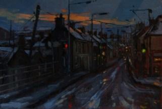 "'Patrick Street Mullingar"" by Dave West at the chimera Gallery, Mullingar, Co Westmeath, Ireland."