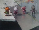 """""""Peppa pig figures"""" by Dave West at the Chimera Gallery, Mullingar, Co Westmeath, Ireland."""
