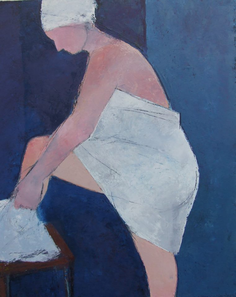 'Night Bather in Blue' by Cormac O'Leary at the Chimera Gallery, Mullingar, Co Westmeath , Ireland