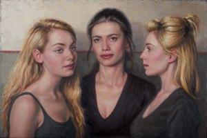 'Three Girls' by Stuart Luke Gatherer