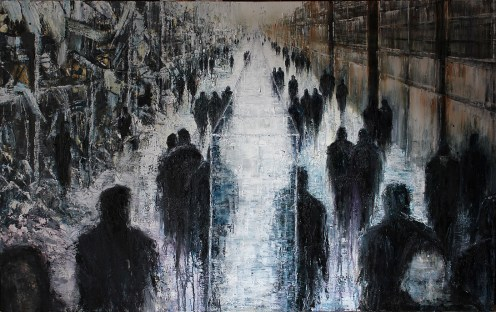 'The Glass Wall' by Lesley Oldaker at the Chimera Gallery , Mullingar, Co Westmeath , Ireland