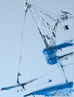 'Maritime Crane V ' by Helen Shulkin at the Chimera Gallery, Mullingar, Co Westmeath, Ireland.