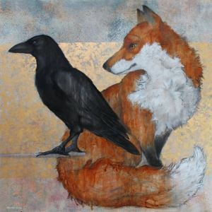 'Fox And Raven' by Sylvia Parkinson Brown