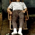 Beijing - Houhai - oldman sleeping