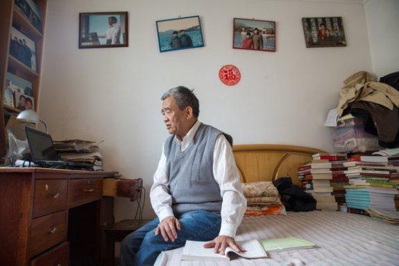 2013年时的杨继绳。他被哈佛大学尼曼学会授予