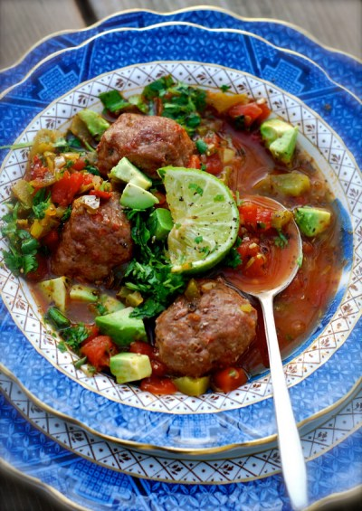 albondigas {spicy mexican meatball soup} | ChinDeep