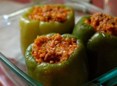 grandma's easy stuffed peppers | ChinDeep