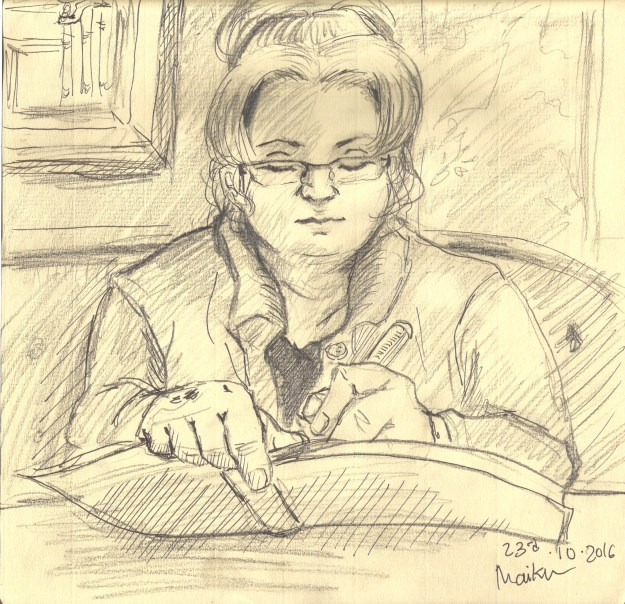 Drawing of Suzanne Forbes by Maiku-no-Koe Oct 23 2016