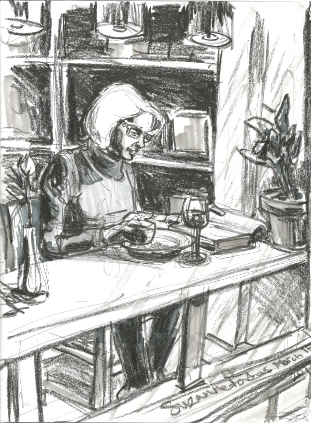 Dining alone by Suzanne Forbes March 15 2017