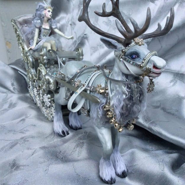 Snow Queen OOAK doll by Suzanne Forbes May 2017