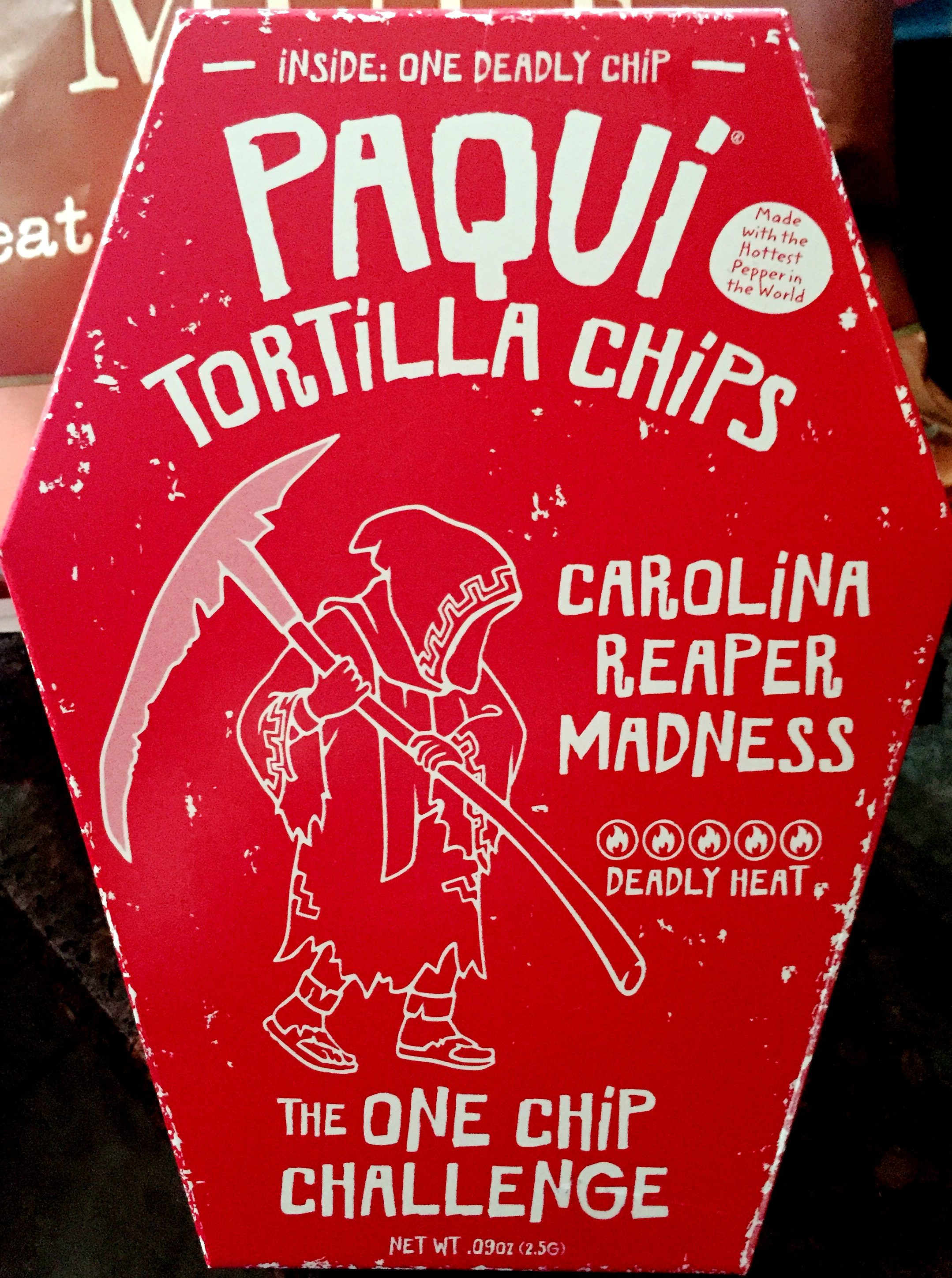 Famed Paqui Tortilla Chips One Chip Challenge Carolina Reapermadness Chip Review Paqui Tortilla Chips One Chip Challenge Carolina Carolina Reaper Madness Chip India Carolina Reaper Madness Chip Austra nice food Carolina Reaper Madness Chip