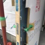 ユダ木工の青い木製玄関がつきました!&お風呂のエレガントモザイクが素敵☆