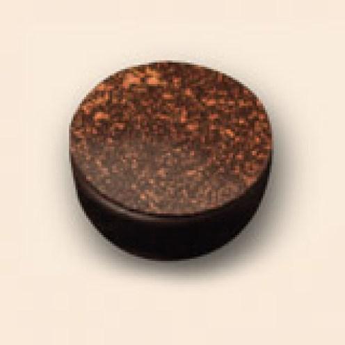 パレオール カフェ カフェのガナッシュ ブロンズ色パウダーの仕上げ