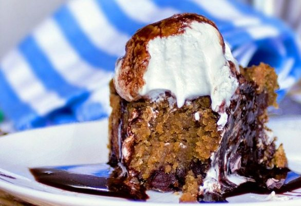 Recipe from @choccoveredkt... I've made this pumpkin pizookie recipe about 1000 times and no one ever believes it's healthy... One of the best desserts I've ever made: http://chocolatecoveredkatie.com/2011/10/24/its-a-chocolate-pumpkin-pizookie/