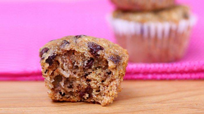 Chocolate Chip Banana Mini Muffins