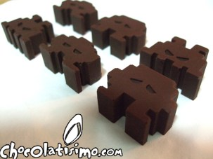 Space invaders chocolate