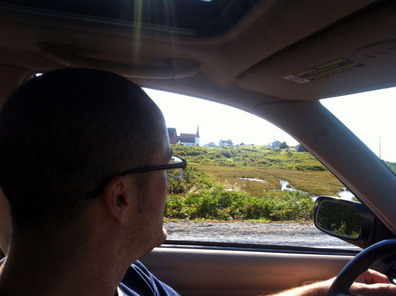 Owen driving so we can sight see