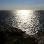 Sun reflection in the Ocean